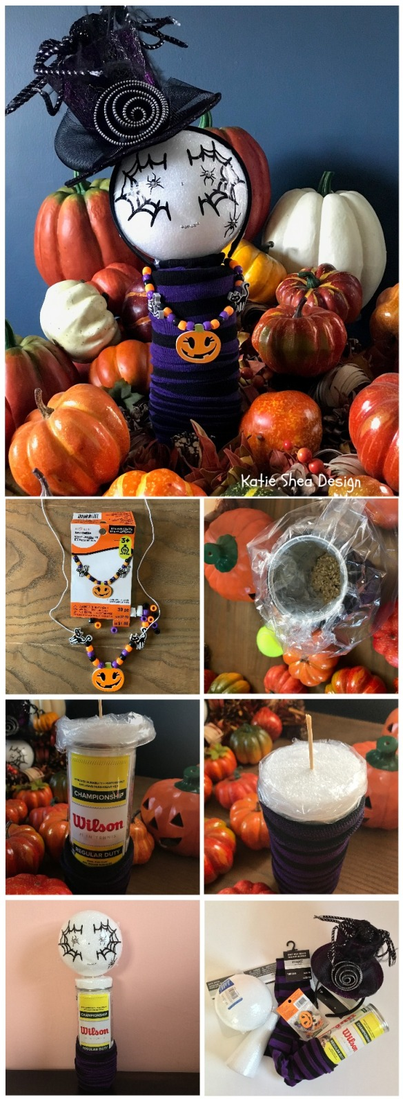 Repurposed Tennis Ball Container Halloween Decor By Katie Shea Design