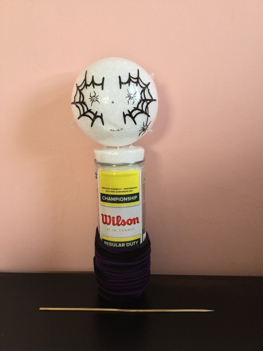 Repurposed Tennis Ball Container Halloween Decor By Katie Shea Design (3)