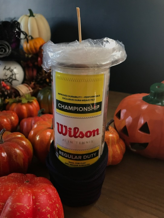 Repurposed Tennis Ball Container Halloween Decor By Katie Shea Design (4)